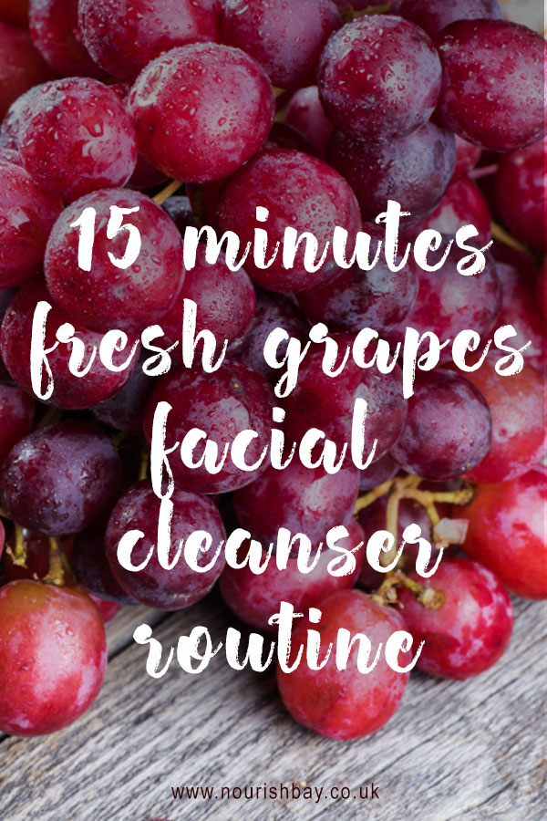 Grapes are beautiful nourishing gems. They are full of antioxidants and contain vitamin C and B6. They make great quick facial cleansers.