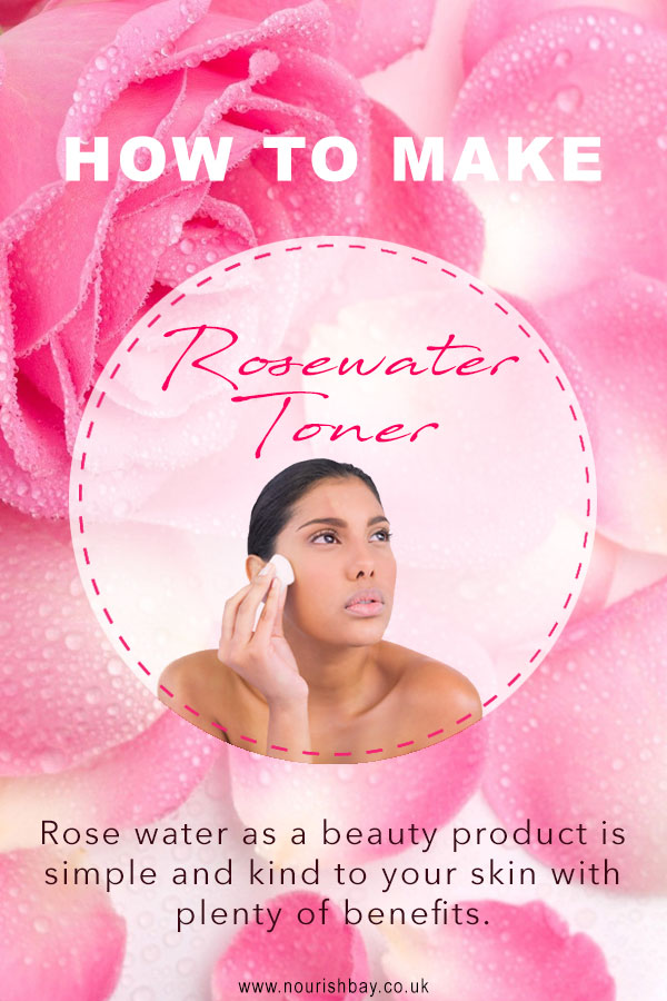 Rose water facial toner. Rose water has some great skin benefits. It's being versatile means it can be used on oily, dry or combination skin.
