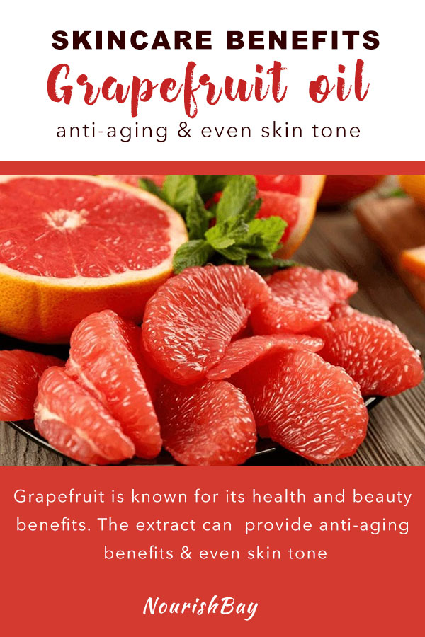 Grapefruit is rich in Vitamin A, lycopene, antioxidants, fiber, potassium and magnesium and so much more. The red and pink ones are especially rich in beta carotene. Grapefruit is known for its health and beauty benefits. The extract can provide anti-aging benefits, even skin tone and fight off free radicals.